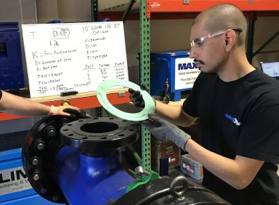 Gasket inspection as a part of bolting training at Maxpro Corporation