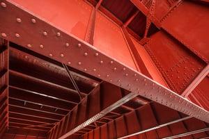 Under Deck of Bridge showing joists