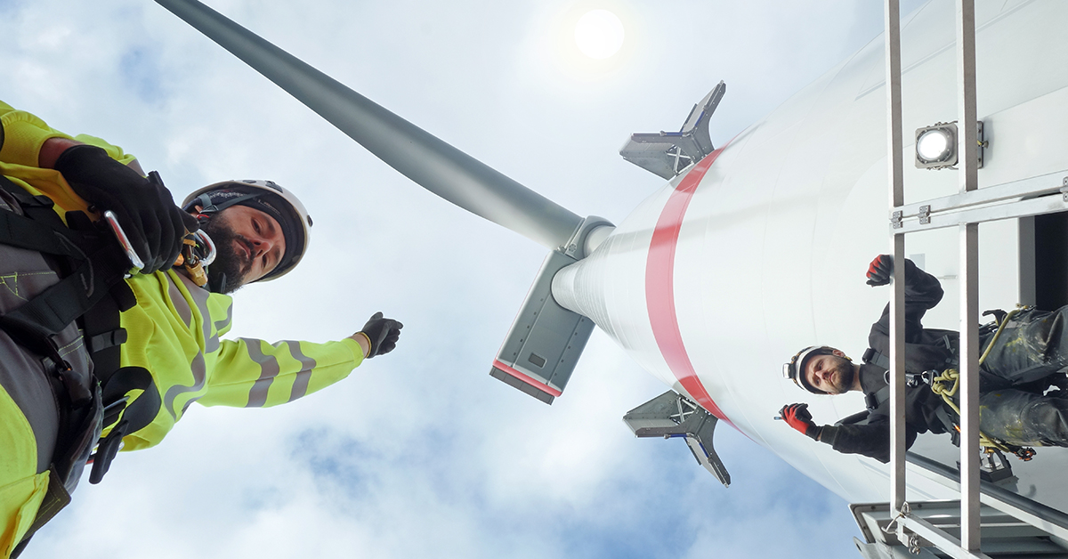 Workers on Wind turbine