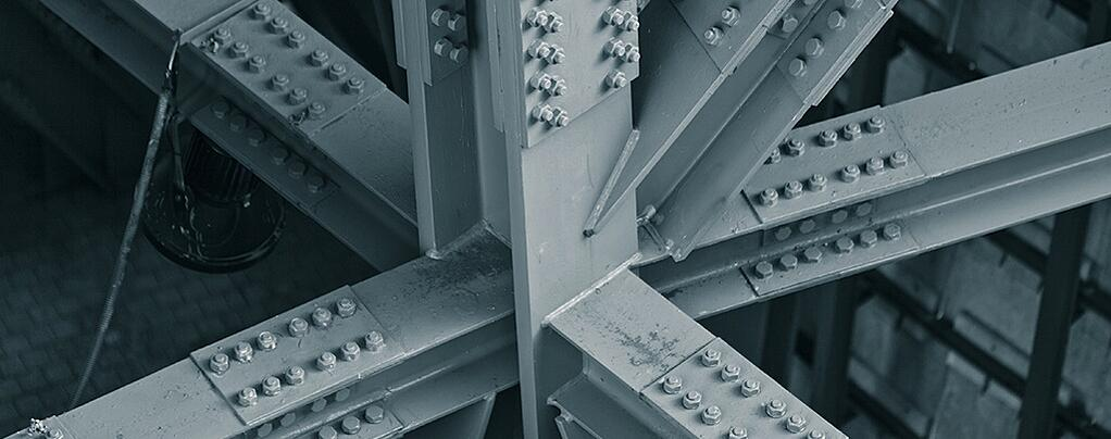 Steel Bridge Frame showing Bolts