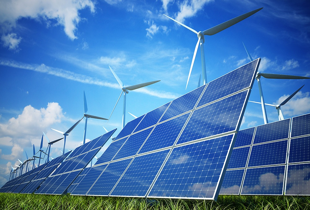 Solar Panels and wind turbines. Both Solar and Wind energy is becoming more affordable.